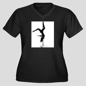 pole dancer 5 Women's Plus Size V-Neck Dark T-Shir