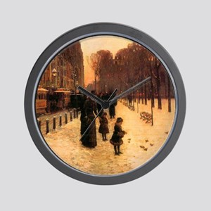 Childe Hassam Boston In Twilight Wall Clock