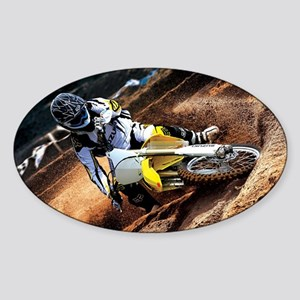 motorcycle-off-road Sticker (Oval)