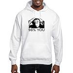 Evolution, Chimp: 98% You Hooded Sweatshirt