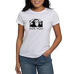 Evolution, Chimp: 98% You Women's T-Shirt