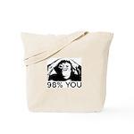 Evolution, Chimp: 98% You Tote Bag