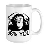 Evolution, Chimp: 98% You Large Mug