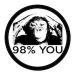 Evolution, Chimp: 98% You Round Car Magnet