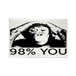Evolution, Chimp: 98% You Rectangle Magnet (10 pac
