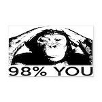 Evolution, Chimp: 98% You Rectangle Car Magnet