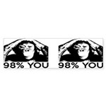 Evolution, Chimp: 98% You Sticker (Bumper)