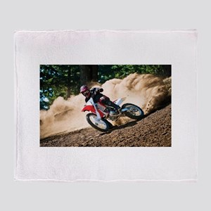 motorcycle-off-road Throw Blanket