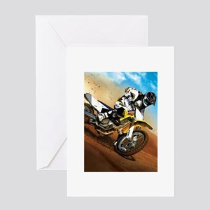motorcycle-off-road Greeting Card