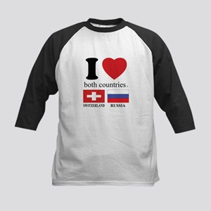 SWITZERLAND-RUSSIA Kids Baseball Jersey