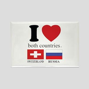 SWITZERLAND-RUSSIA Rectangle Magnet