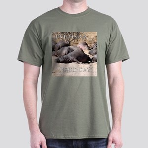 Hard Day Hippos - Dark T-Shirt
