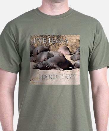 Hard Day Hippos - T-Shirt