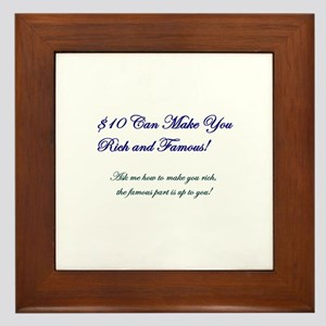 Blue Rich and Famous Framed Tile