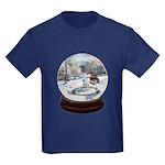 Blue Christmas - Kids Dark T-Shirt