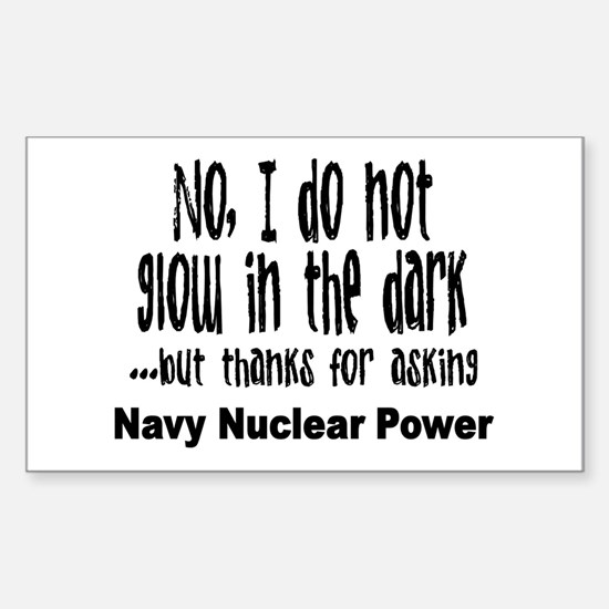 Navy Nuclear Power Rectangle Stickers