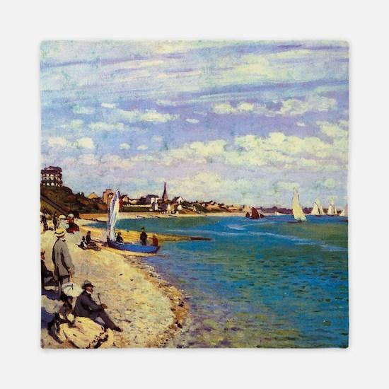 Monet The Beach at Sainte Adresse Queen Duvet