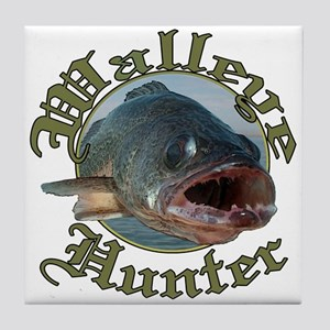 Walleye hunter 3 Tile Coaster
