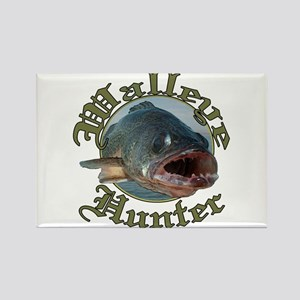 Walleye hunter 3 Rectangle Magnet