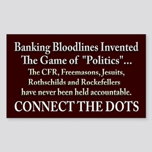 Blood-Stained Bankers Sticker (Rectangle)