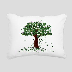 MAGNOLIA TREE Rectangular Canvas Pillow