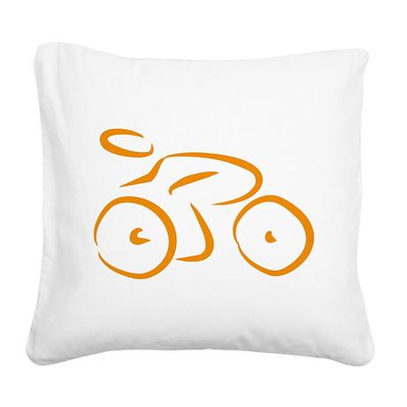 bike logo Square Canvas Pillow