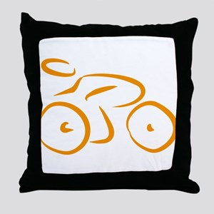 bike logo Throw Pillow
