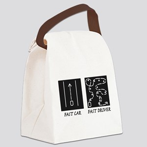 Fast Car Fast Driver Canvas Lunch Bag