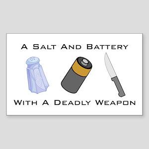 A Salt And Battery With A Dea Sticker (Rectangular
