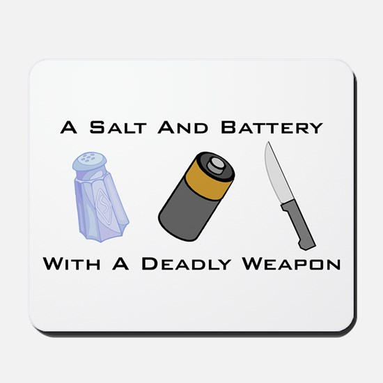 A Salt And Battery With A Dea Mousepad