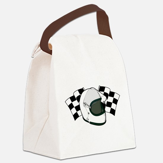 Helmet & Flags Canvas Lunch Bag