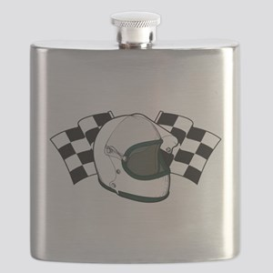 Helmet & Flags Flask