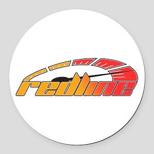 Redline Tach Round Car Magnet