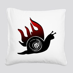 Boost Snail Square Canvas Pillow