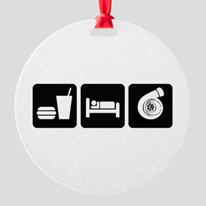 Eat Sleep Boost Round Ornament