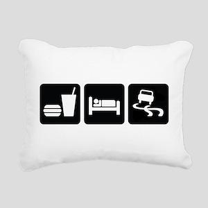 Eat Sleep Drift Rectangular Canvas Pillow