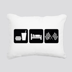 Eat Sleep Race Rectangular Canvas Pillow
