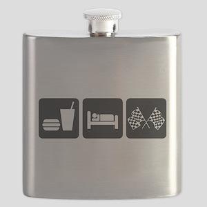 Eat Sleep Race Flask