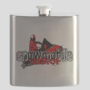 Snowmobile Addict Flask