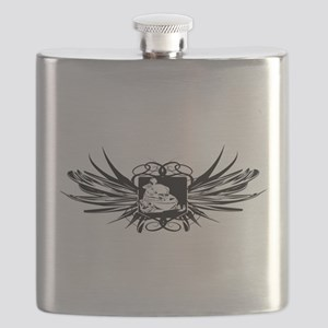 Snowmobile Crest Flask