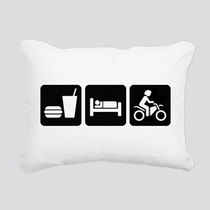 Eat Sleep Dirt Bike Rectangular Canvas Pillow