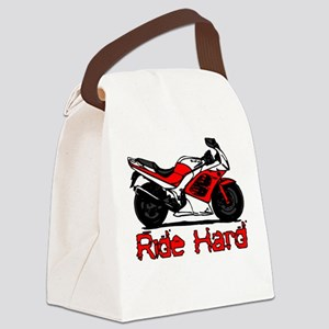 Ride Hard Canvas Lunch Bag