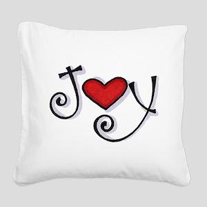 Joy Square Canvas Pillow
