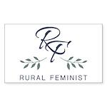 RuralFeministCo-Logo-RGB Sticker (Rectangle 10 pk)