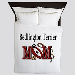 Bedlington Terrier Mom Queen Duvet