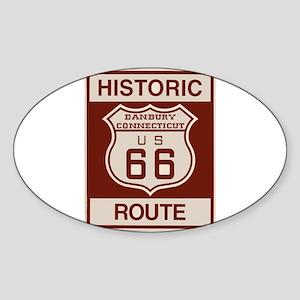 Danbury Route 66 Sticker (Oval)