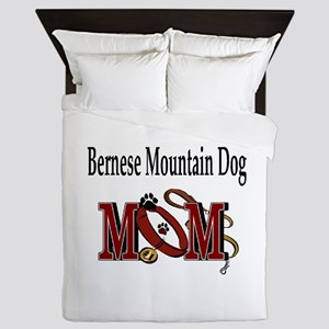 Bernese Mtn Dog mom Queen Duvet