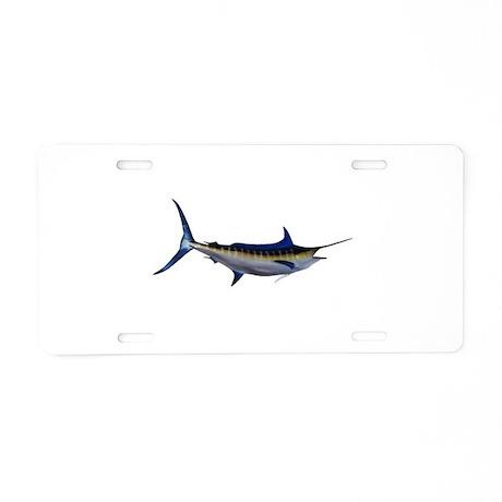 Blue Marlin Fish Aluminum License Plate