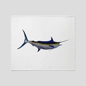 Blue Marlin Fish Throw Blanket