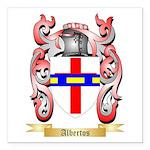 Albertos Square Car Magnet 3